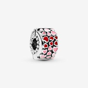 Pandora Red and Pink Hearts Charm